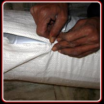 Stitching PP Cloth as Final Packing