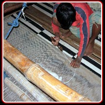 Handloom Rug after Weaving